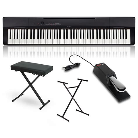digital piano stand and bench casio privia px 160bk digital piano with stand sustain
