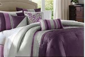 Purple and gray comforter sets queen
