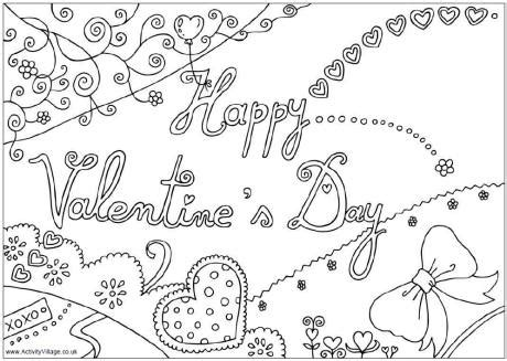 valentine coloring pages activity village happy valentine s day colouring page