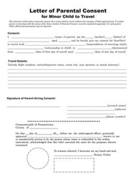 Parental Consent Letter Mexico Affidavit Of Parental Consent Form Mexico Parental Consent
