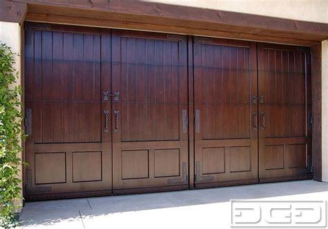 Mahogany Garage Door Mediterranean Style Garage Door Handcrafted In Mahogany Forged Hardware Shed Orange