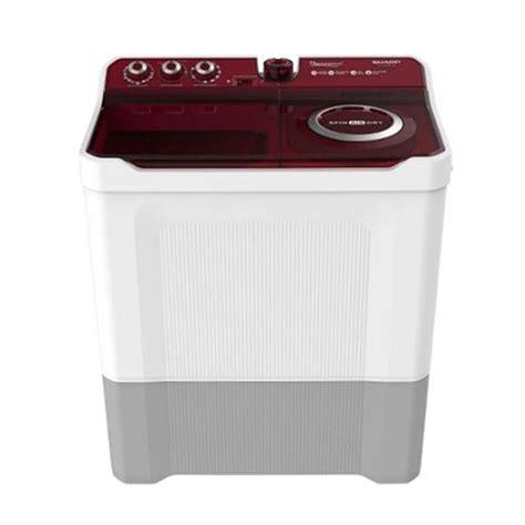 Mesin Cuci Sharp Satu Tabung jual sharp es t1490wa rd mesin cuci 2 tabung 14 kg