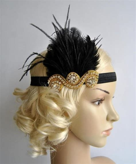 how to make 1920s headpieces gold and black the great gatsby 20 s flapper headpiece