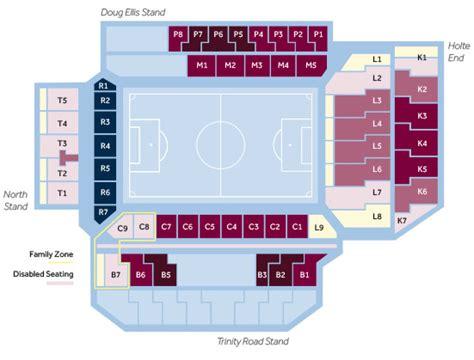 layout of villa park stadium seating
