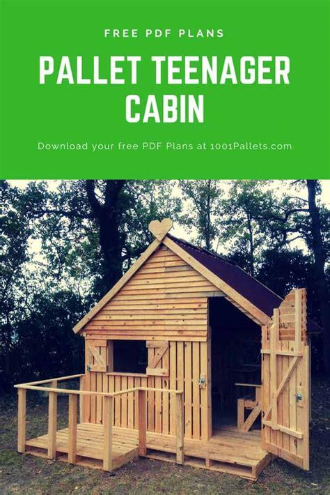 pallet cabin clubhouse build    pallets