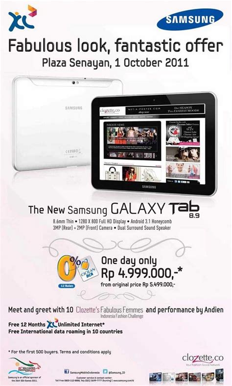 Tablet Samsung Promo promo tablet samsung galaxy tab 8 9 jagat review