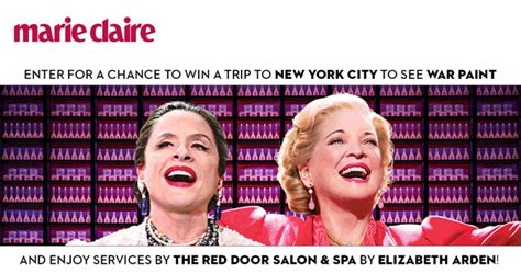 Marie Claire Sweepstakes - marie claire the red door by elizabeth arden war paint sweepstakes