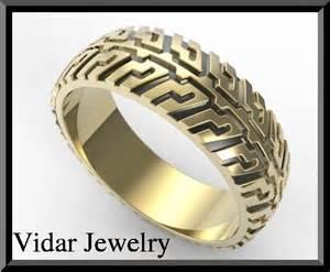 tire tread wedding ring vidar jewelry unique custom engagement and wedding rings