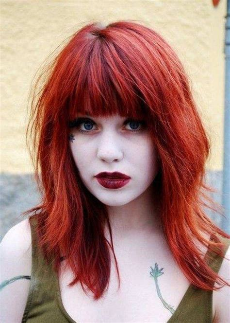 short bobs layer an the fourth an cherry an blond color medium hairstyles for red hair hairstyles