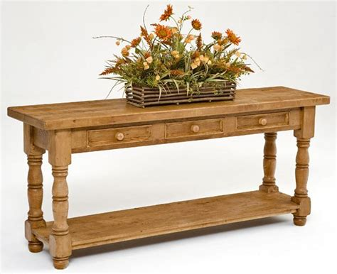 Wood Sofa Table Reclaimed Wood Furniture Sofa Table Design 1 Woodland Creek Furniture