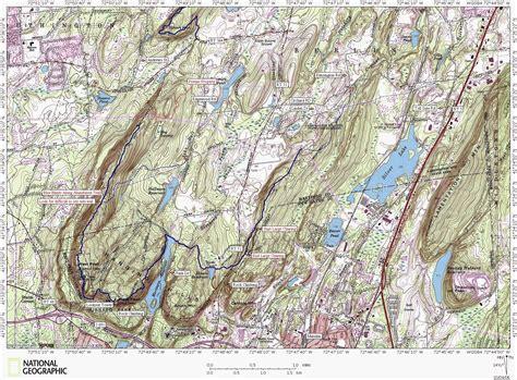 hiking maps metacomet trail hiking map meriden