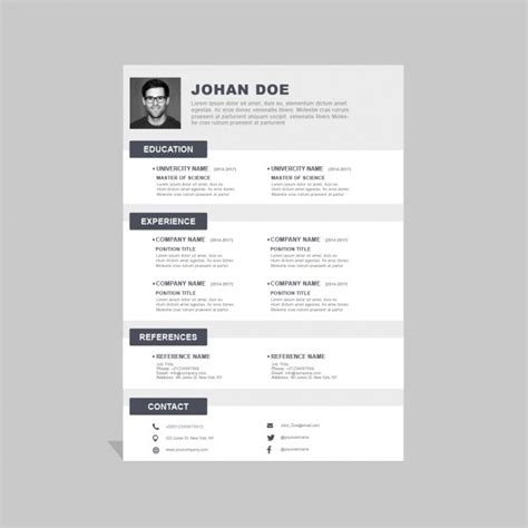 Corporate Resume Formats by Corporate Resume Template Psd File Free
