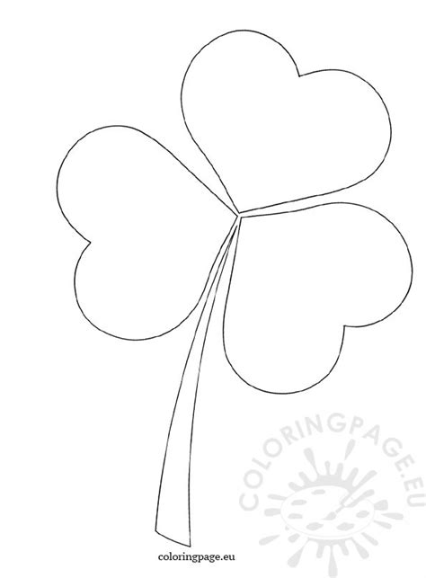 clover template coloring page