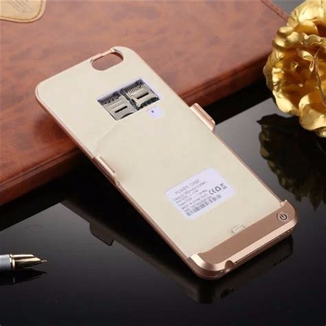 mah power bank backup battery case charger cover sd sim card slot phone  iphone