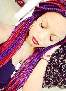 colorful box braids box braids my two favorite colors box braids