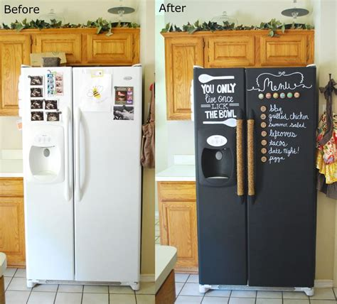 chalkboard painting your fridge best 25 chalkboard paint refrigerator ideas on