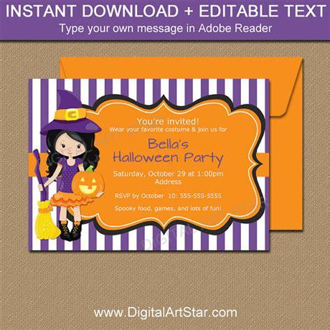 diy printable halloween invitations halloween party invitations printable purple witch