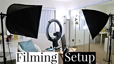 camera and lighting for youtube videos beauty room filming setup camera and lighting youtube