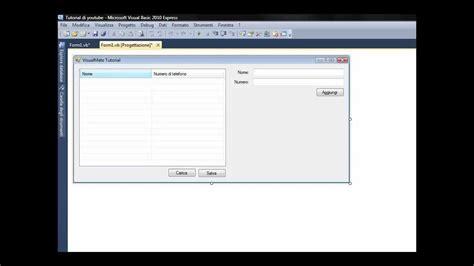 tutorial visual basic database salvare dati senza database con visual basic tutorial
