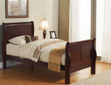 louis philippe bedroom set louis philippe ii cherry youth sleigh bedroom set from alpine coleman furniture