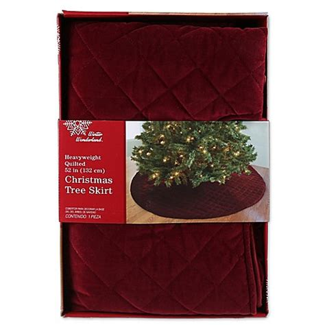bed bath and beyond christmas tree quilted velvet christmas tree skirt in burgundy bed bath