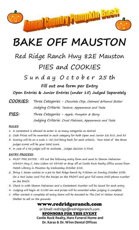 contest sheet bake judging sheet school pto