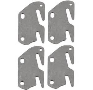 Bed Frame Hook Plates 4 Bed Rail Hook Plates Fits 2 Quot Bracket Or Bed Post Flat 13 Ga Steel Made In Usa