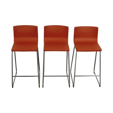 ikea orange armchair 60 off ikea ikea bernhard orange bar stools chairs