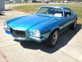 file 1972 blue chevrolet camaro turbo 350 front side jpg