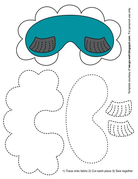 sleep mask template best photos of sleep mask patterns print free printable