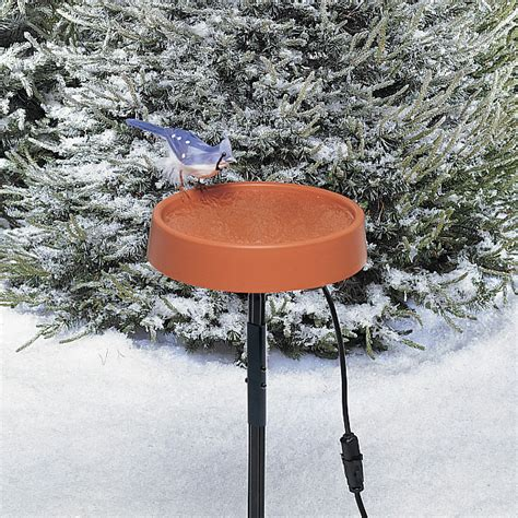 allied precision heated 12 quot bird bath with metal stand