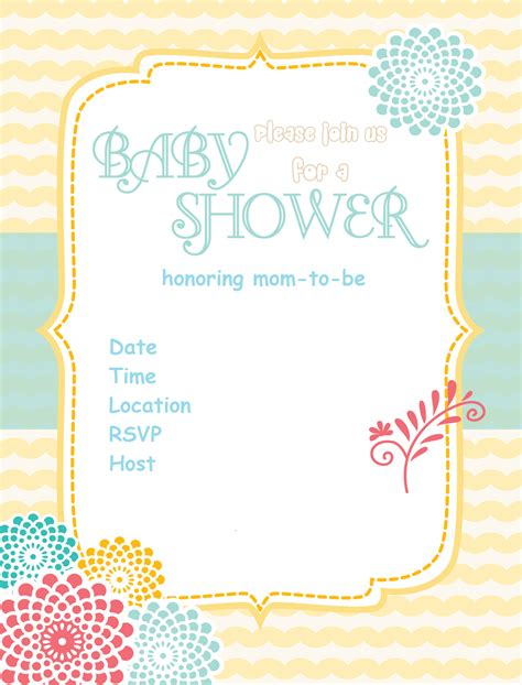 best simple baby shower invitation card idea and flower plus simple blue fonts colors