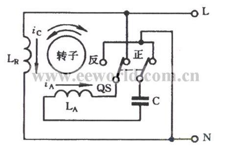 capacitor start motor direction change capacitor start single phase motor basic circuit circuit diagram seekic