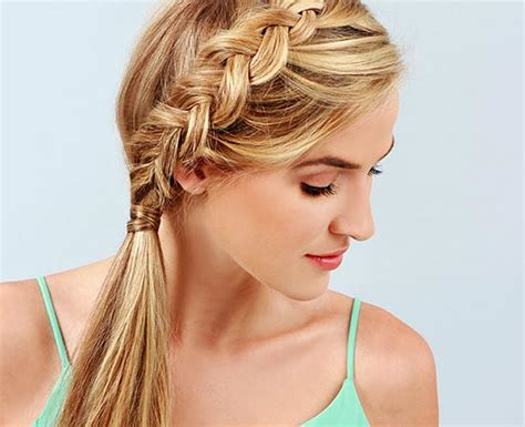 Braided Ponytail Hairstyles by Casual Braided Hairstyle Ideas Haircuts And Hairstyles