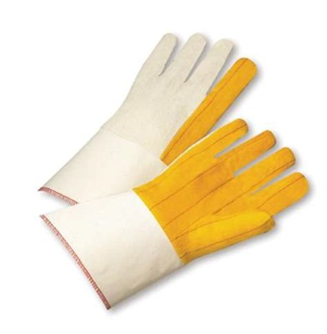 Five Sf 1 Gloves Whitegold airgas rad64057228 radnor 174 gold white cotton clute cut general purpose gloves with gauntlet cuff