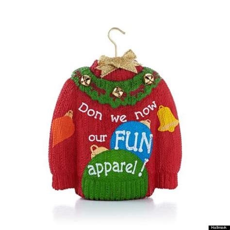ugly christmas sweater ornament hallmark long sweater jacket