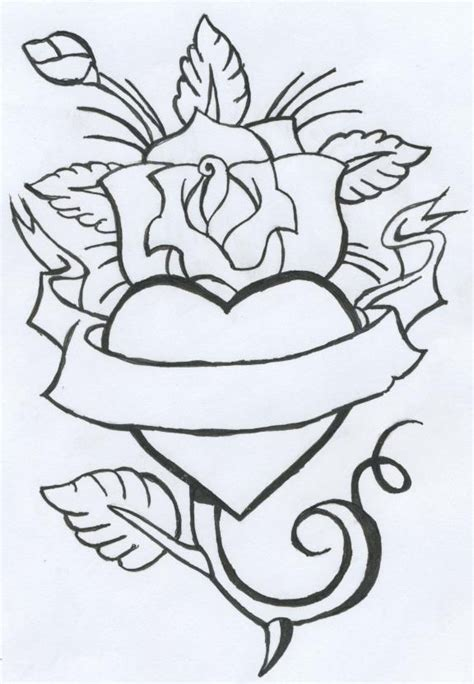 rose and heart tattoo ideas by morbid curiousity on deviantart
