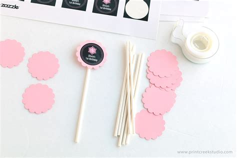 How To Make Paper Cupcake Toppers - diy cupcake toppers tutorial print creek studio inc