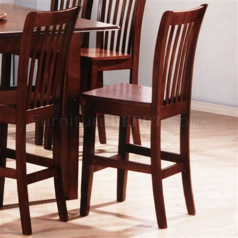 cherry finish modern 7pc counter height dining table w options