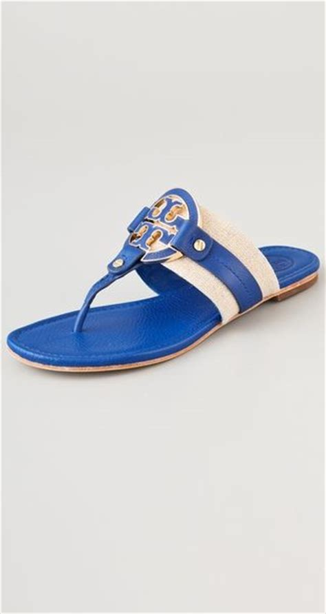 burch amanda sandal burch amanda flat sandals in blue lyst