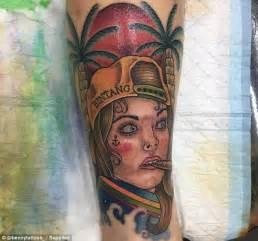 bintang beer tattoo fan gets schapelle corby s face tattooed on their leg
