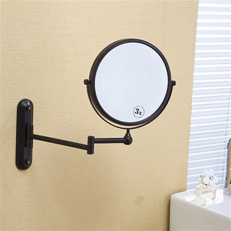 bathroom makeup mirror wall mount free shipping 8 black antique finish beauty brass wall