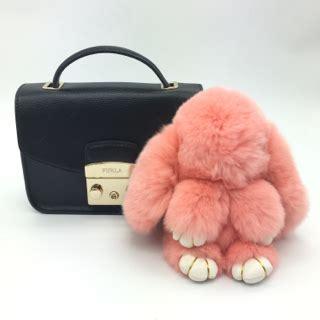 Gantungan Tas Bulu Kelinci Premium jual gantungan kunci keychain rabbit fur bulu pompom