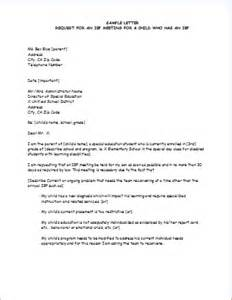 iep template individualized education program meeting letter document