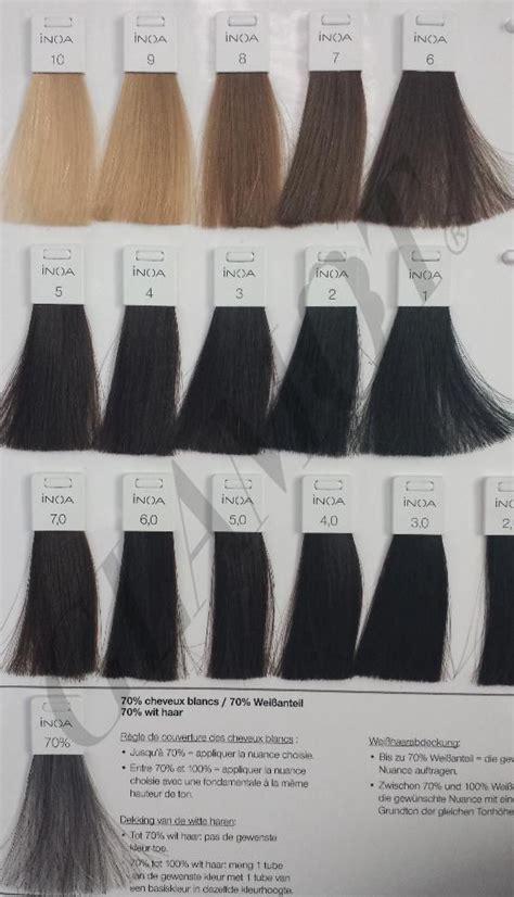 loreal inoa supreme colour chart l or 233 al professionnel inoa ods2 glamot włosy