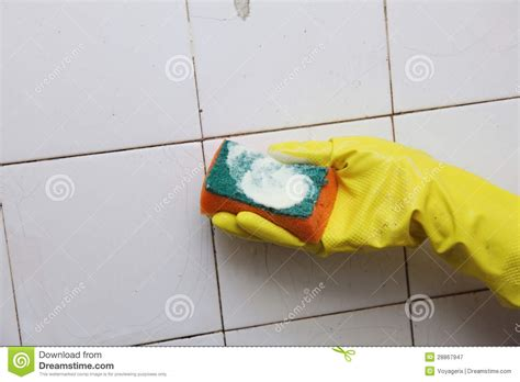 cleaning dirty bathroom tiles cleaning of dirty old tiles in a bathroom royalty free stock photography image 28867947