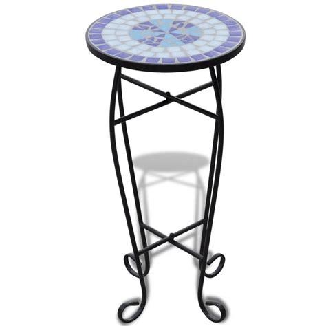 plant table vidaxl co uk mosaic side table plant table blue white