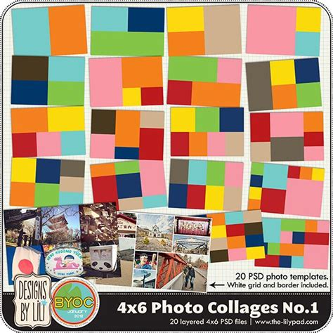 4x6 mini photoshop collage templates 17 best images about project templates on