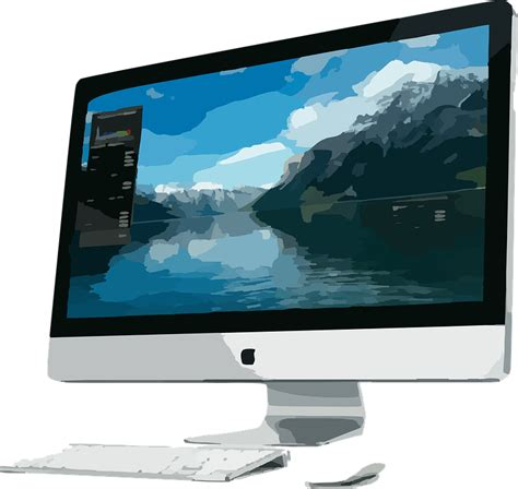 Mac Desk Top Computer Free Vector Graphic Computer Apple Inc Monitor Free Image On Pixabay 297754