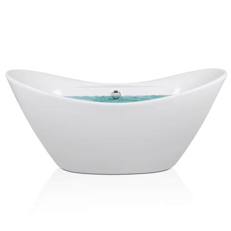 homedepot bathtubs akdy 5 58 ft acrylic center drain oval double slipper